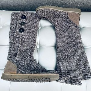 UGG Classic Cardy Button Detailed Knit Boots